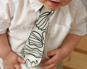 Tie for your Little Guy - Black and White 12M, 2T, 3T, 4T or 5T