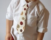 Tie for your Little Guy - Red Dots - 12M, 2T, 3T, 4T, or 5T
