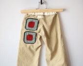 Little Corduroy Pants - Beige Modern Squares - Custom Order for theOutfit