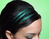 GREEN Silk Triple 1/4 Inch Skinny Headband