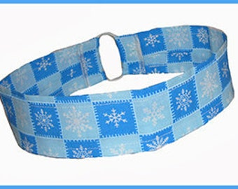 Winter Headband, Seasonal Themed Medium Thin Headband, Snowflakes