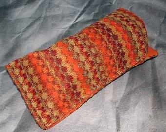 Multicolored Knit Stripe Eyeglass Case, Gadget Holder, Sunglass, Glass Pouch
