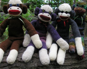 Sock Monkey Knitting Pattern PDF