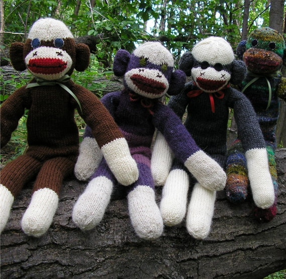 sock monkey knitting pattern pdf