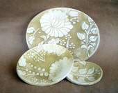 Ceramic Dijon Damask Nesting Bowls