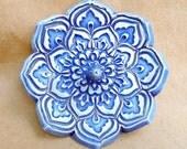 Cobalt Blue Lotus Ring Holder Bowl