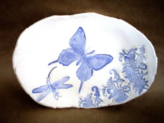 Blue Butterfly Trinket Dish