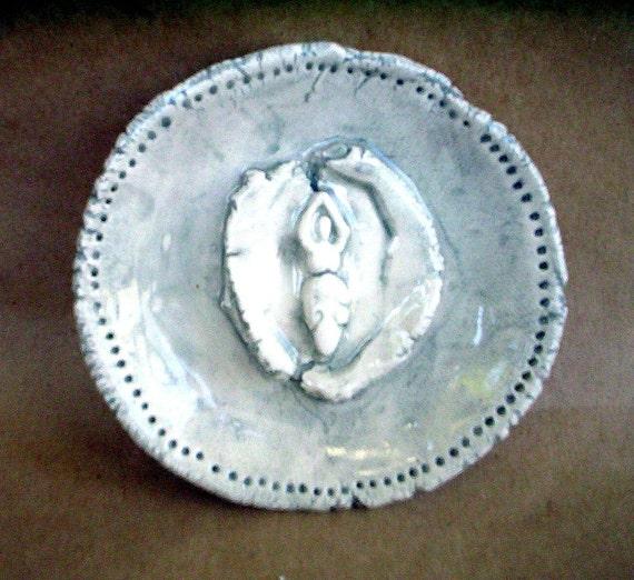 Ceramic Forest Goddess Bowl