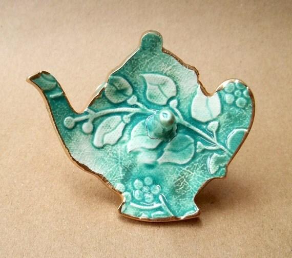 Sinkside Ceramic Teapot Ring Holder Bowl