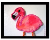 Magnetic Fridge Friends-  Isabella Flamingo