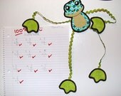 Magnetic Fridge Friends-  Frankie Frog