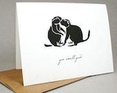 You Smell Good - Prairie Dog Couple's Card