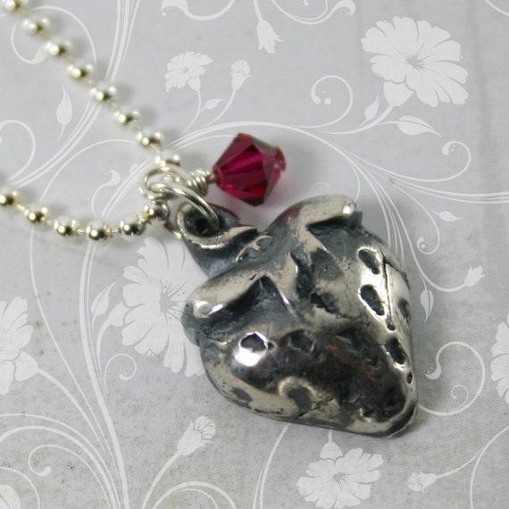 Strawberry charm necklace for Strawberry shortcake necklace jewelry