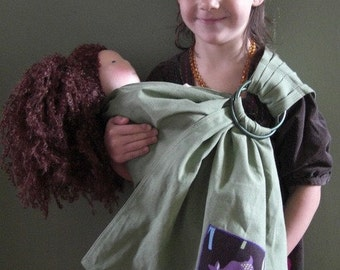 Sewfunky Doll Carrier- Toy Baby Sling for Kids - Hemp/Organic Cotton Adjustable