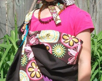 Doll Sling Sewfunky Toy Sling Organic Cotton Carnival Bloom