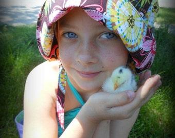 Bonnet Sun Hat - Sun Bonnet for Baby Toddler Child - Carnival Bloom