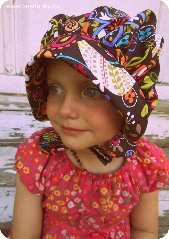 Bonnet Sun Hat - Sun Bonnet for Baby Toddler Child - Birds of Norway