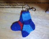 House Elf Sock Keychain- 2.5inch socks  1inch key ring