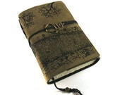 Leather Journal, Handmade, Forest Track