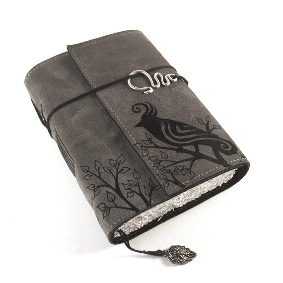 Black Bird -  Leather Journal, Notebook, Diary