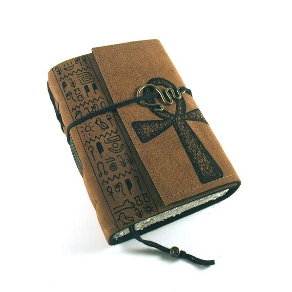 Leather journal, hand bound, Ancient Egypt