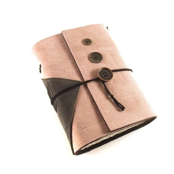Journal, Leather, Handmade, Suede, Diary, Buttons