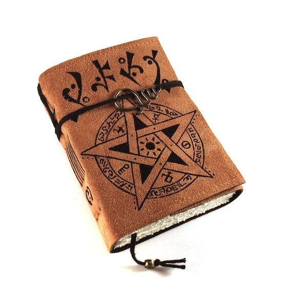 Grimoire, Journal, Leather, Handmade, Suede, Diary