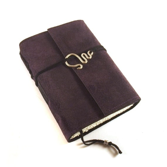 Journal, Leather, Suede, Deep Purple