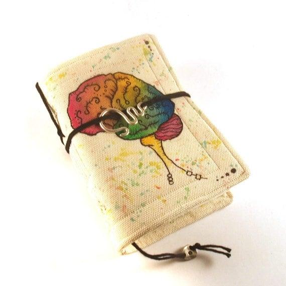 Ersatz Brain, Canvas Journal, Notebook, Diary, Painted