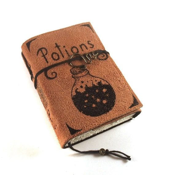 Potions, Journal, Leather, Handmade, Suede,