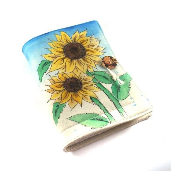 Journal, Notebook, Sketchbook, 6.3 x 9, Sunflowers
