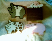 Pigs In A Poke Coasters
