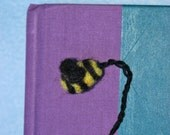 CUSTOM ORDER FOR MARSHAOZA -- 3 Bee Bookmarks -- needle felted wool
