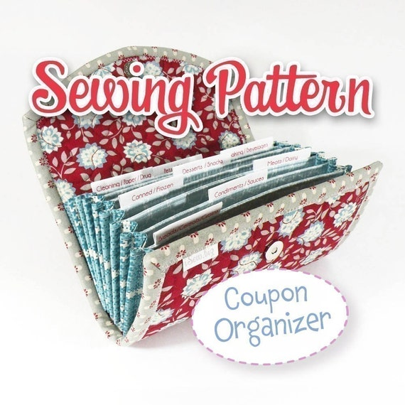 PDF SEWING PATTERN - Coupon \/ Expense Organizer