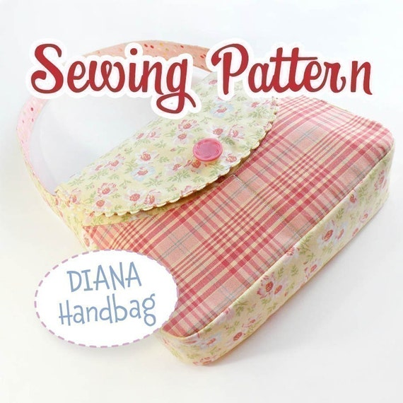 PDF SEWING PATTERN - Diana Handbag by iSew - Instant Download