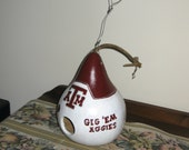 Texas A and M Handpainted Gourd Birdhouse