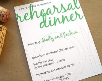 Dot - Rehearsal Dinner Invites Set of 10