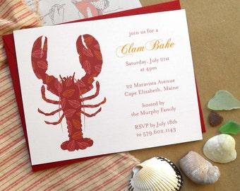 Clam Bake Invites - Set of 12