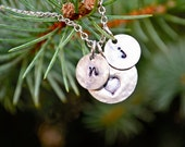 personalized hand stamped love necklace perfect for fiance or children or mothers or bridesmaids