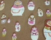 West Hill Russian Nesting Dolls Matryoska - Heather Ross for Free Spirit - quilt weight fabric