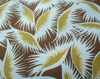 Amy Butler Belle Line - Eyelashes in Okra - quilt weight fabric - 1 full yard - AB01 Okra