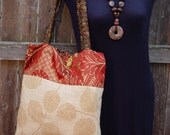Wine and Amber Knitting Bag Or Diaper Tote