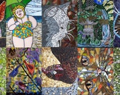 Mosaic Postcard Variety Pack of Ten Different Designs - Misc.