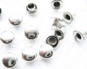 100 set of 5 mm Metal round rivet rapid Studs - Steel