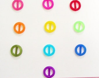 Translucent Tiny round buckle for Barbie, Blythe and dolls 20 pcs