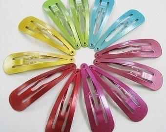 24 pcs of 47 mm. metalic color Snap clip
