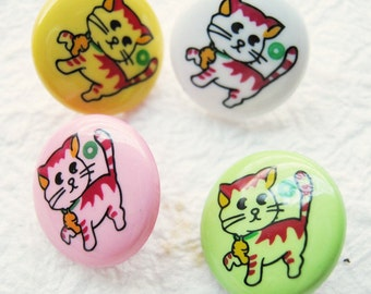 Kitty cat buttons 30 pcs