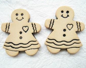 Gingerbread -  Cabochons 14 pcs size 28 x 22 mm.