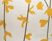 Linen Fabric Swatch - Spring Forsythia