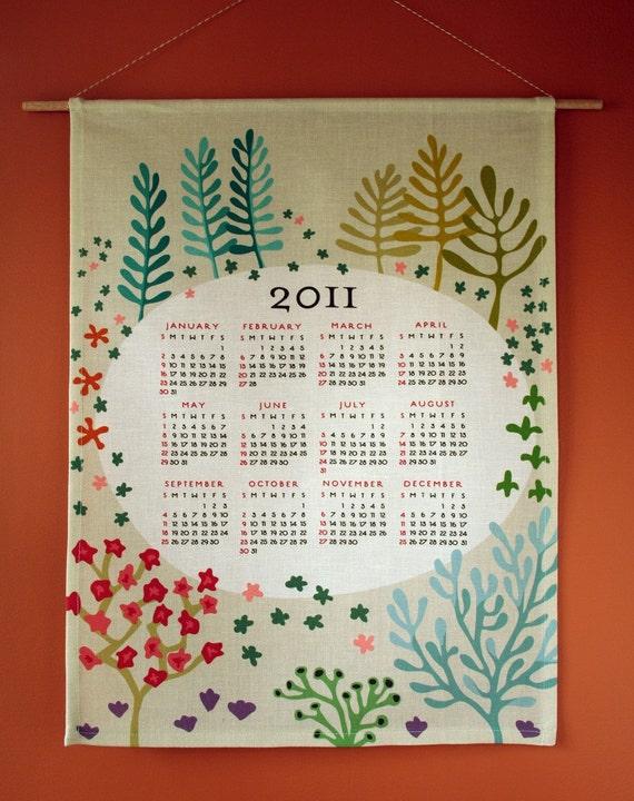 2011 Tea Towel Wall Calendar - PREORDER